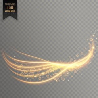 Traînée de lumière avec effet miroitant