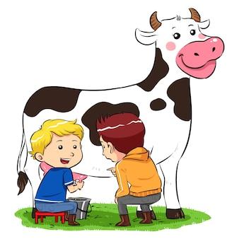 Traire une vache