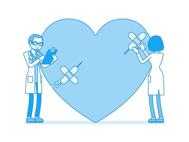 Traitement cardiaque par des médecins