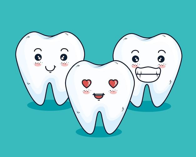 Traitement des dents avec du matériel dentaire