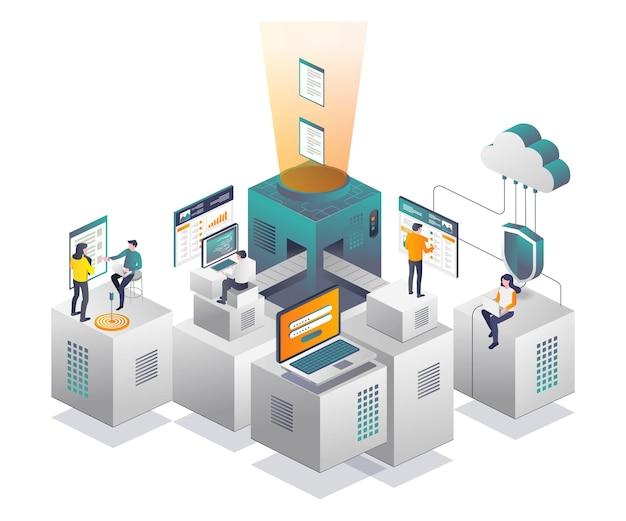 Traitement des données et sécurité du serveur cloud