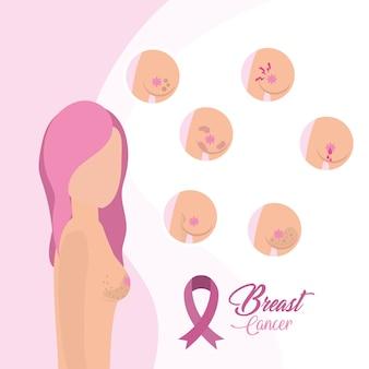 Traitement du cancer du sein et ruban rose