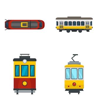 Tram icon set
