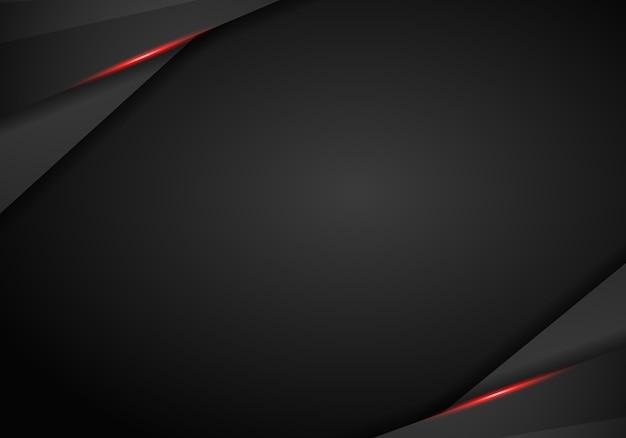 Trame abstraite métallique rouge noir