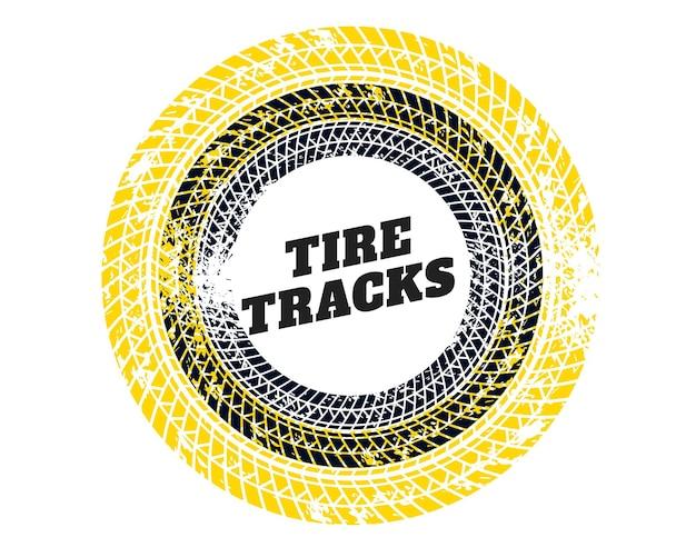 Trame de texture d'impression de piste de pneu circulaire abstraite