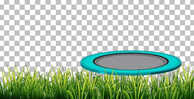 Trampoline sur fond transparent