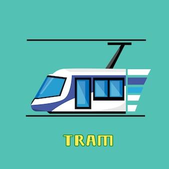 Tramway modern city transport public