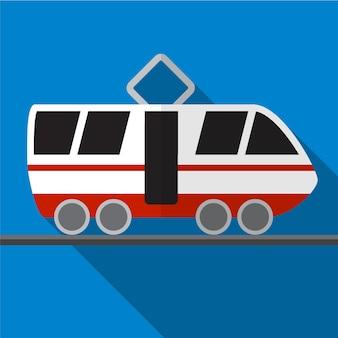 Tramway plat icône illustration isolé vecteur signe symbole