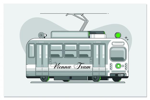 Tramway vintage - symbole de vienne