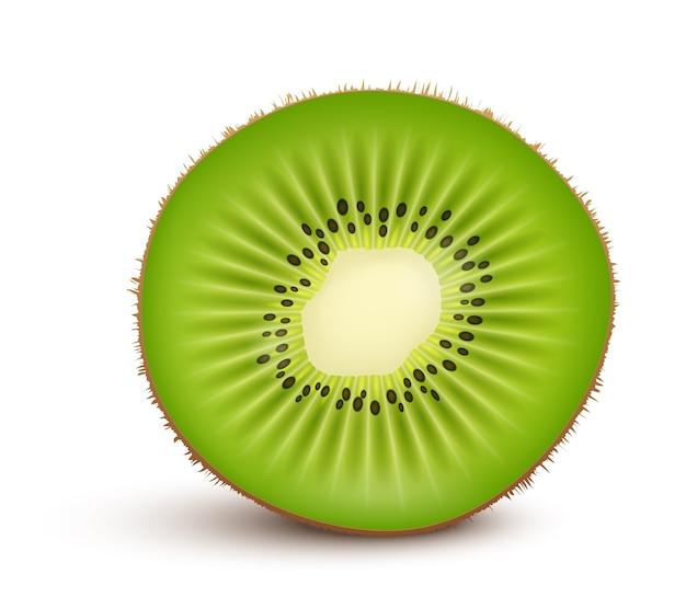 Tranche de kiwi frais isolé
