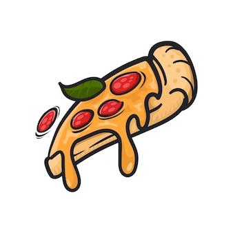 Tranche de pizza, illustration vectorielle