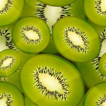Tranches de kiwi juteux vif, modèle sans couture