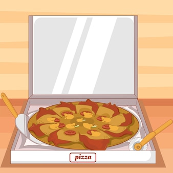 Tranches de légumes au fromage pizza avec fond