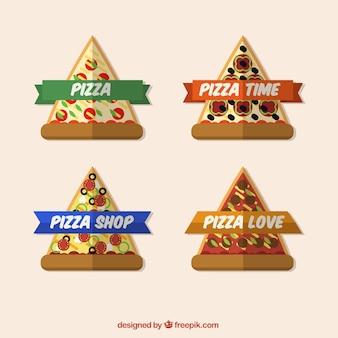Tranches de pizza autocollants
