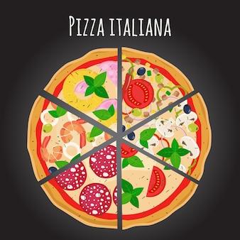 Tranches de pizza.