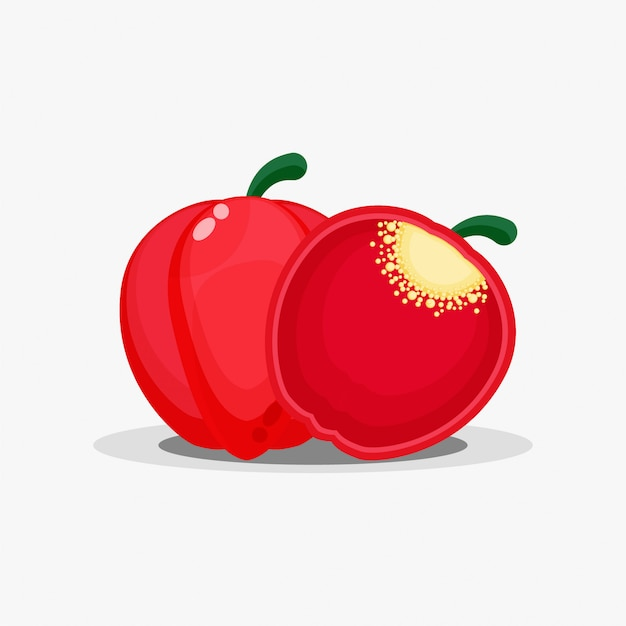 Tranches de poivron et de poivron