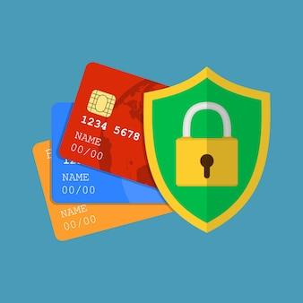 Transaction sécurisée par carte de crédit.