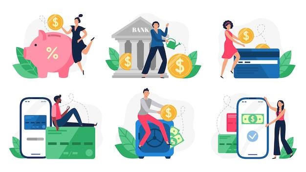 Transactions bancaires, paiement par carte de crédit et paiements par internet.