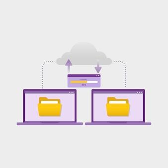 Transférer des fichiers de documents entre le concept de conception d'appareils