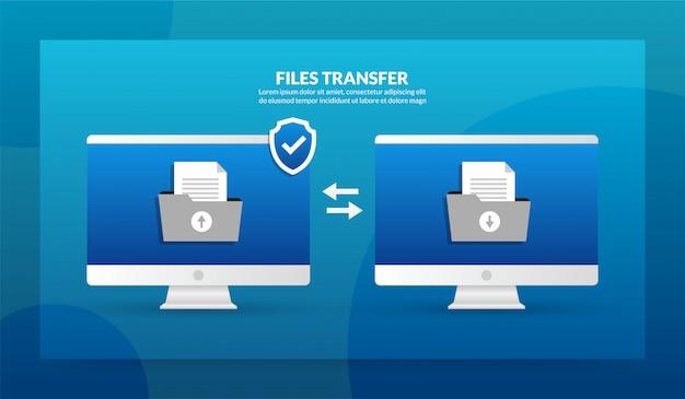 Transfert de fichiers entre le bureau et le bureau