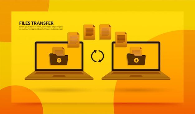 Transfert de fichiers entre un ordinateur portable et un ordinateur portable