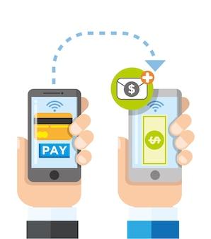 Transfert de paiement sans fil à l'aide de téléphones intelligents