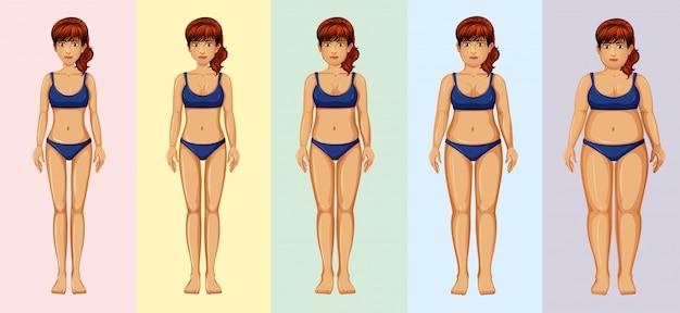 Une transformation du corps de la femme