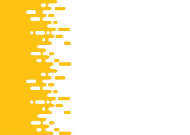 Transition de demi-teintes de lignes arrondies jaunes