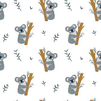 Transparente motif enfantin avec ours mignon koala.