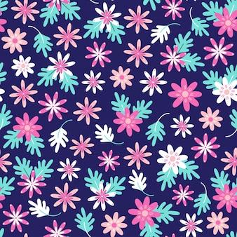 Transparente motif floral marguerite dans un style folk scandinave