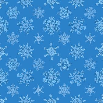 Transparente motif de noël bleu avec des flocons de neige dessinés