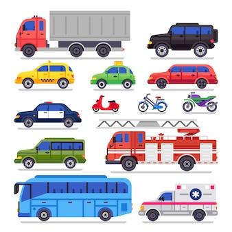Transport auto plat