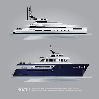 Transport bateau touristique à voyager