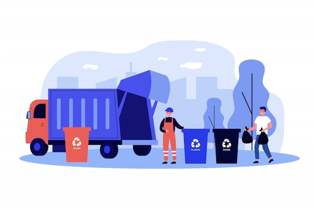 Transport de collecte des déchets