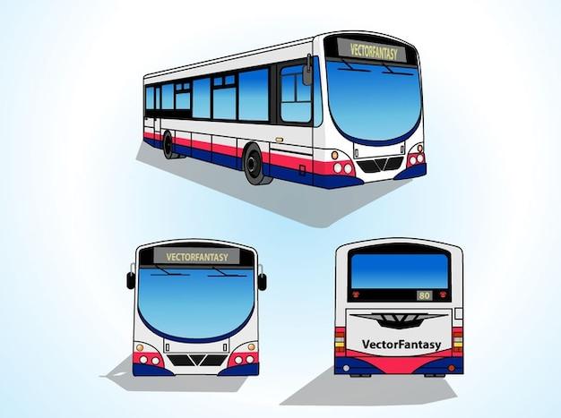 Le transport en commun bus vecteurs transporation