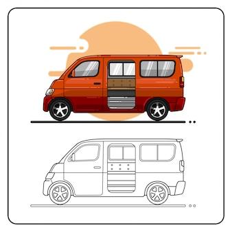 Transport en commun facilement éditable