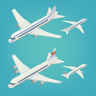 Transport isométrique d'un avion de passagers