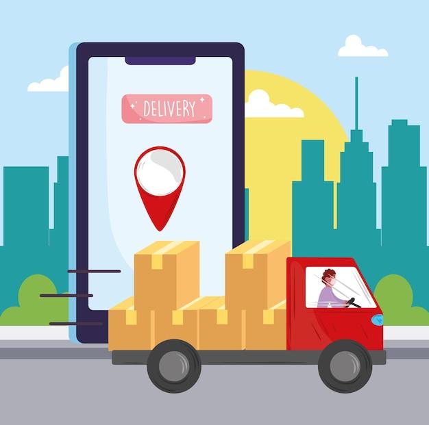 Transport de livraison en ligne