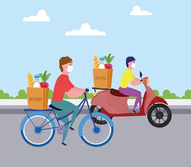 Transport des livreurs