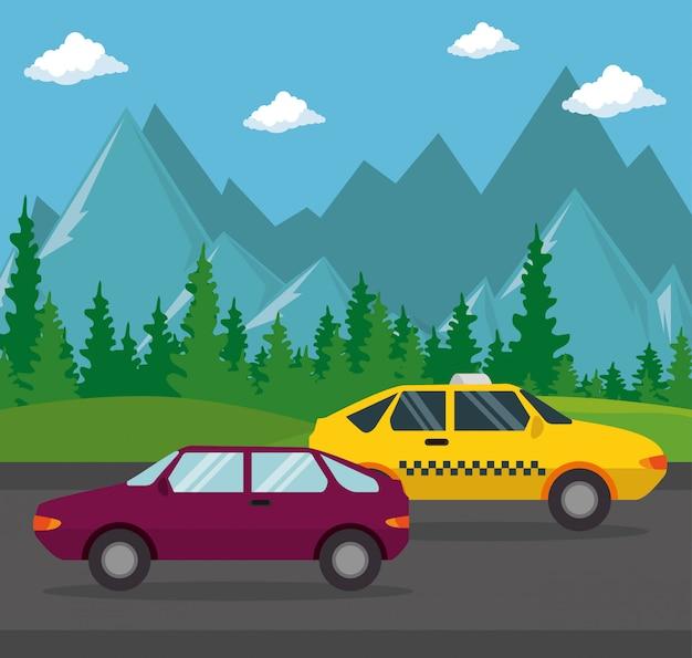 Transport en taxi public