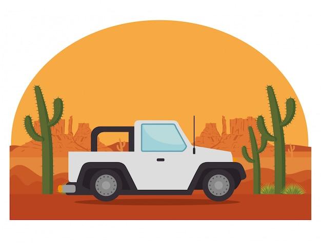 Transport de véhicule de voiture de jeep