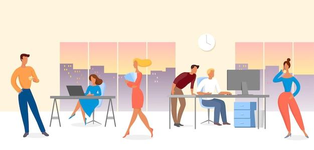 Travail de bureau, entreprise moderne