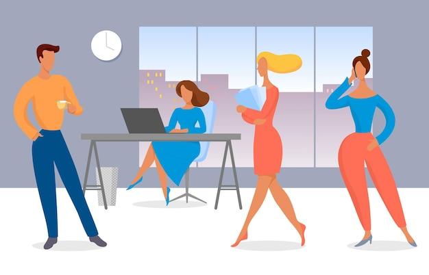 Travail de bureau, réunion d'équipe