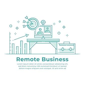Travail à distance et conception d'entreprise