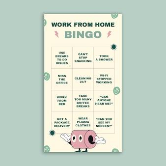 Travail à domicile bingo histoire instagram