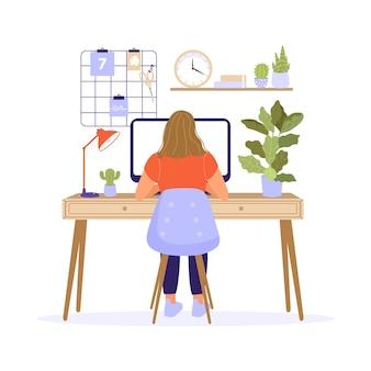 Travail à domicile ou concept de travail à distance.