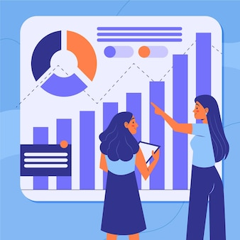 Travail d'équipe analysant les courbes de croissance
