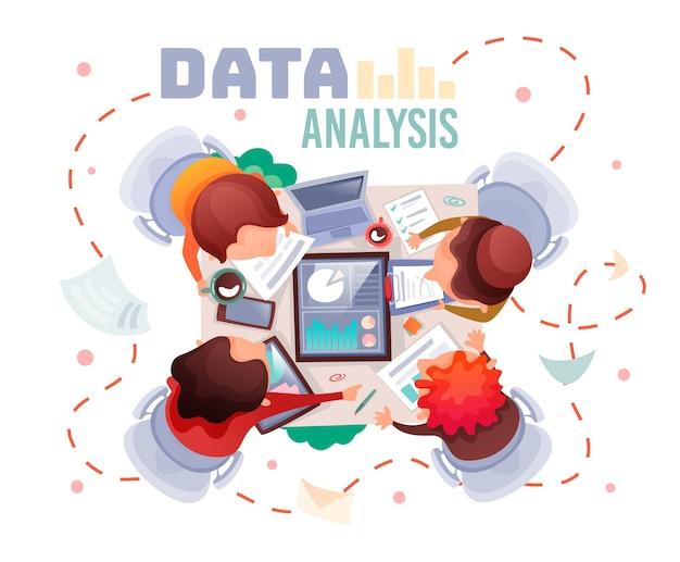 Travail d'équipe d'analyse de données de concepts