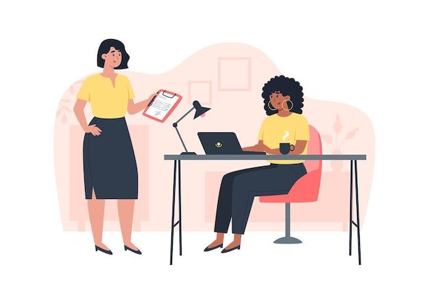 Travail d'équipe et communication entre les employés au bureau