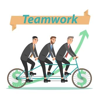 Travail d'équipe de concept d'entreprise. illustration dans un style plat sur fond blanc.